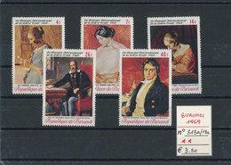 BURUNDI 1969 MNH N°515-19 - 1962-69: Nuevos