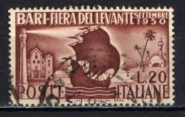ITALIA - 1950 - 14^ FIERA DEL LEVANTE DI BARI - USATO - 1946-60: Afgestempeld