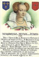 Cpsm Reine Margot, Marguerite De Valois épouse De Henri IV, Portrait Et Armoiries - Case Reali
