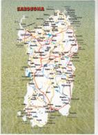 Postcard - Map - Sardegna - Card No. 47271/C - VG - Cartes Postales