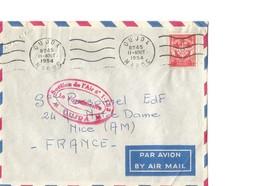 """Marcophilie : Belle Enveloppe De Oujda (Maroc) 1954 Avec FM N°12 Et Cachet Ovale """"Section De L'Air N° 1-153  Oujda"""" - Andere"""