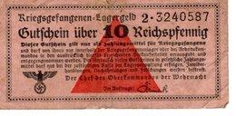 Billet 10 Reichspfennig - [ 4] 1933-1945 : Terzo  Reich