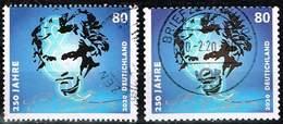 Bund 2020,Michel# 3513, 3520 O 250. Geburtstag Von Ludwig Van Beethoven Nass- Und Selbstklebend - [7] Federal Republic