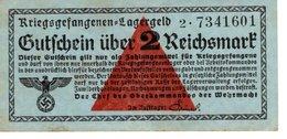 Billet 2 Reichsmark - [ 4] 1933-1945 : Terzo  Reich