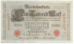 Billet De 1000 Mark   - 24 April 1910 - [ 2] 1871-1918 : German Empire
