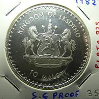 Lesotho 10 Maloti 1982 Silver Proof - Lesotho