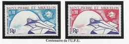 SAINT PIERRE ET MIQUELON SPM N° 434 Et 435 ** Neufs 1974 Oiseau - St.Pierre Et Miquelon