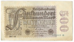 Billet De 500 Millionen Mark   - 1 September 1923 - [ 3] 1918-1933: Weimarrepubliek