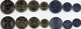 Ukraine - 1 2 5 10 25 50 Kopecks 1 Hryvna 20102- 2016 UNC Set 7 Coins Lemberg-Zp - Ukraine
