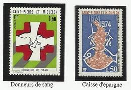 SAINT PIERRE ET MIQUELON SPM N° 436 Et 437 ** Neufs 1974 - St.Pierre Et Miquelon