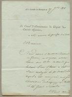 Citadelle De BESANÇON Lettre à En-tête Du Dépôt Des Conscrits Réfractaires En 1808 - Historical Documents