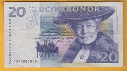 Suède - Billet De 20 Kronor - Selma Lagerlof - P61a - Svezia
