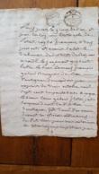 GENERALITE MONTPELLIER 1776 LOUIS ET FRANCOIS GALLON 8 SOLS BEZIERS - Gebührenstempel, Impoststempel