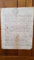 GENERALITE MONTPELLIER 1747 AUBAN CONSEILLER - Gebührenstempel, Impoststempel