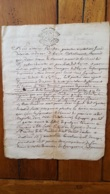 GENERALITE MONTPELLIER 1747 AUBAN CONSEILLER - Matasellos Generales