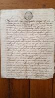 GENERALITE MONTPELLIER 1780 BARTHELEMY BAISSO  ET MARIE ET CLAIRE COUSINE - Gebührenstempel, Impoststempel