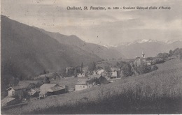 CHALLANT, St ANSELME M.1055 - FRAZIONE QUINCOD AOSTA  - VIAGGIATA 1929 - Aosta