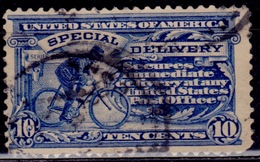 United States, 1902, Special Delivery, Messenger On Bicycle, 10c, Sc#E6, Used - Special Delivery, Registration & Certified