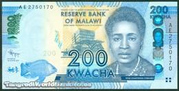 TWN - MALAWI 60a - 200 Kwacha 1.1.2012 Prefix AE UNC - Malawi