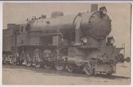 CARTE PHOTO D'UNE LOCOMOTIVE - MARQUE A DETERMINER - ECRITE DE SAINT LOUIS ( HAUT RHIN ) EN 1924 - 2 SCANS - - Trains