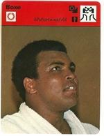 Fiche Boxe Muhammad Ali Editions Rencontre 1976 Format 16 X 12 Cm - Sports