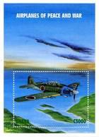 Ghana 1998 Sheet Aircraft War And Peace Mitsubishi A6-M8 Reisen - Aerei