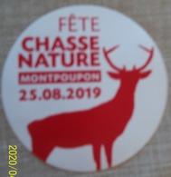 Autocollant Fête Chasse Nature MONTPOUPON 2019 - Adesivi