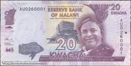 TWN - MALAWI 63b - 20 Kwacha 1.1.2015 Prefix AU UNC - Malawi