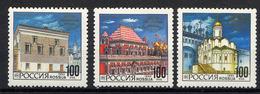 RUSSIE RUSSIA 1993, Yvert 6033/5, Architecture Kremlin, 3 Valeurs, Neufs / Mint. R568 - Ongebruikt