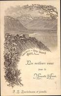 Lithographie Glion Sur Territet Montreux Kanton Waadt, Grand Hotel Du Rigi Vaudois - VD Vaud