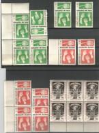 Lot Nations Unies New York 1964 - N° 142 à 144** ( 6 Exemplaires De Chaque) - Ungebraucht