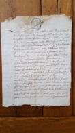 GENERALITE MONTPELLIER 1763 MLLE PASCAL  DU LIEU BOUJON ET ANTOINE IMBERT - Gebührenstempel, Impoststempel