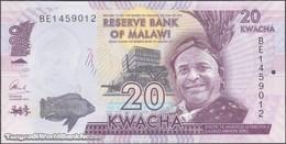 TWN - MALAWI 63c - 20 Kwacha 1.1.2016 Prefix BE UNC - Malawi