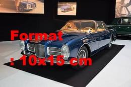 Reproduction D'une Photographie Ancienne De La Facel Vega HK II Coupé Au Salon De L'automobile De Paris - Reproducciones