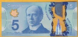Canada - Billet De 5 Dollars - Wilfried Laurier - 2013 - Neuf - Polymère - Kanada