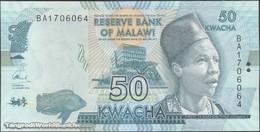TWN - MALAWI 64c - 50 Kwacha 1.1.2016 Prefix BA UNC - Malawi