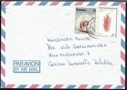 Vanuatu - 1985 - Timbres 649 Et 716 Sur Enveloppe De Port Vila Pour Grafenhainichen (All) - B/TB - - Vanuatu (1980-...)