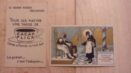 RARE CHROMO  Cacao Flick Usine A Mantes La Ville La Grande Marque Hollandaise DORE LE BON ROI DAGOBERT AVAIT  SA CULOTTE - Otros