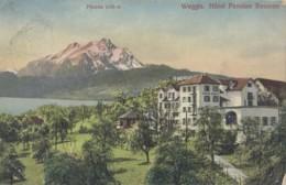 Suisse - Weggis - Hôtel Pension Baumen - Cachet Hôtel Baumen - Postmarked 1910 - LU Lucerne
