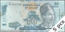 TWN - MALAWI 64c - 50 Kwacha 1.1.2016 Prefix BC UNC - Malawi