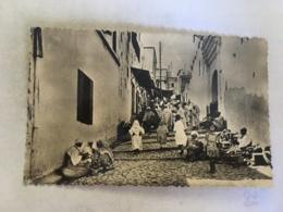 CPA MAROC - OUEZZAN - 563 - La Rue Du Mellah - Autres