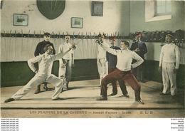 MILITARIA. Les Plaisirs De La Caserne Assaut D'Armes Au Sabre 1906 - Caserme