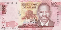 TWN - MALAWI 65b - 100 Kwacha 1.1.2016 Prefix AX UNC - Malawi