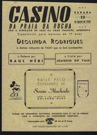 Cartaz Publicidade CASINO PRAIA Da ROCHA Director José Cruz Francês / Fadista / Raul Nery PORTIMÃO / PORTUGAL - Faro