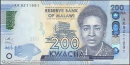 TWN - MALAWI A66 - 200 Kwacha 1.1.2016 Prefix AK UNC - Malawi