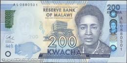 TWN - MALAWI A66 - 200 Kwacha 1.1.2016 Prefix AL UNC - Malawi