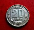 1942 Russia 20 Kopeks / KOPEEK Russian Soviet UNION Coin USSR STALIN - WW II - Russland