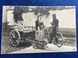 """""""Policier écrivant PV Pour Laitière Flamande Avec Attelage De Chien """"(2142)--1907 - Artisanat"""