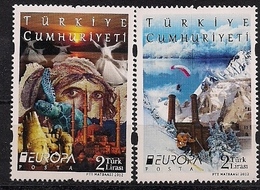 2012 Türkei Mi.2954-5**MNH  Europa: Besuche - Europa-CEPT