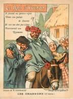 LES CHANSONS - LE ROI D YVETOT - Dessin H. Gerbault - édité Par RICQLES & Cie - Werbepostkarten
